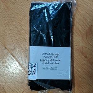 NWT H&M Mama Leggings Invisible Cuff Tights Black
